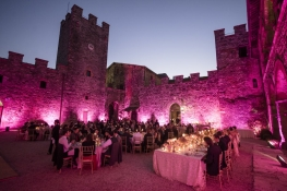 A wedding in a castle in Tuscany
